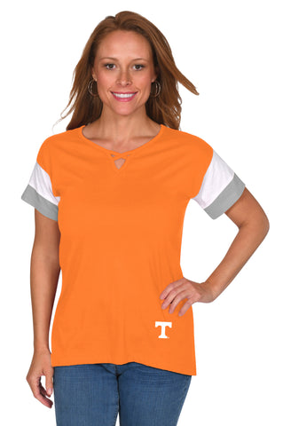 Tennessee Vols Colorblock Keyhole Top