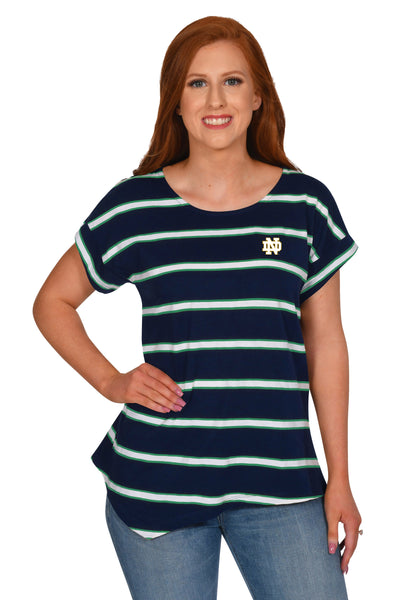 Notre Dame Fighting Irish Stripe the Stadium Top