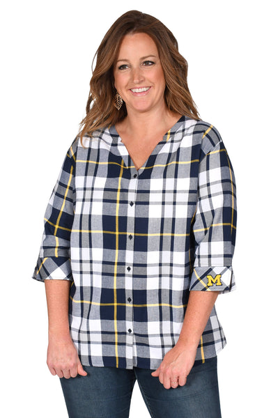 Michigan Wolverines Women's Plus Size Top