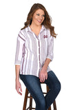 Mississippi State Striped Button-Up