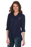 Navy Auburn Tigers Women's Top