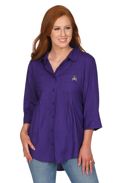 Purple East Carolina Pirates Women's Top
