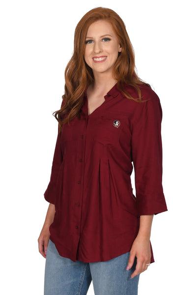 Garnet Florida State Seminoles Women's Top
