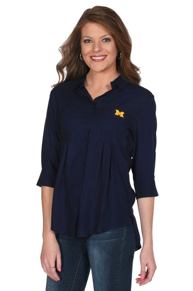 Navy Michigan Wolverines Women's Top