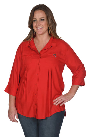 Red Georgia Bulldogs Women's Plus Size Top