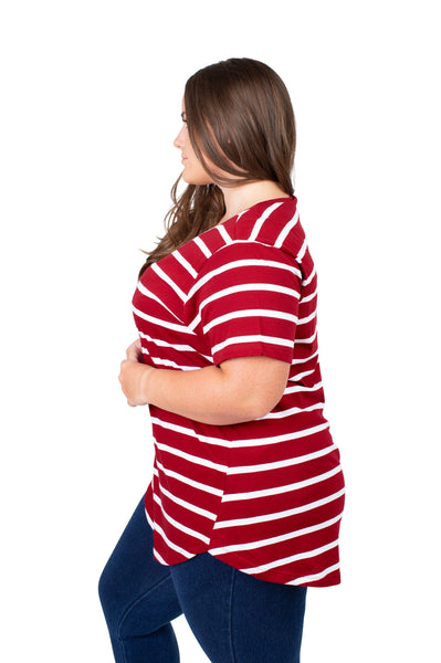 Plus Size Alabama Crimson Tide Striped Sweet Tee