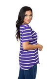 K-State Wildcats Striped Sweet Tee