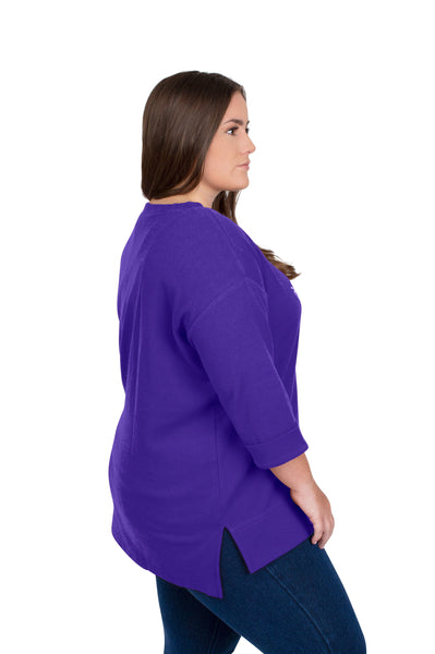 Plus Size Clemson Tigers Favorite Waffle Top