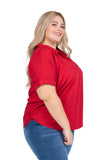 Plus Size Arkansas Razorbacks Dolman Sleeve Top