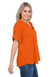 Auburn Tigers Orange Dolman Sleeve Top