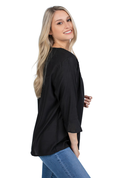 South Carolina Flutter Sleeve Top
