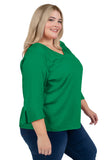 Plus Size Marshall University Flutter Sleeve Top