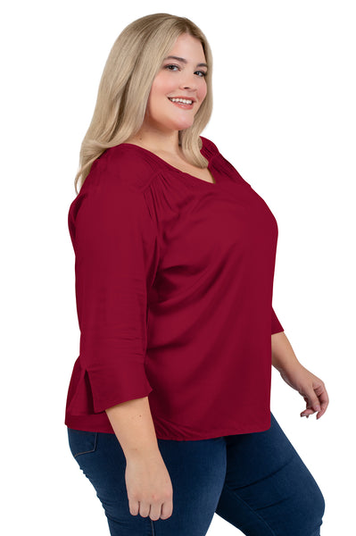 Plus Size Florida State Flutter Sleeve Top