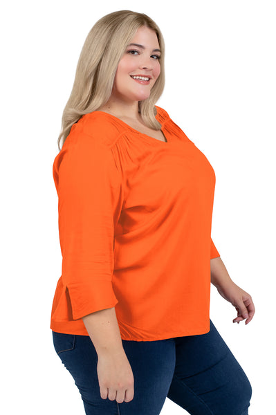 Plus Size Oklahoma State Flutter Sleeve Top