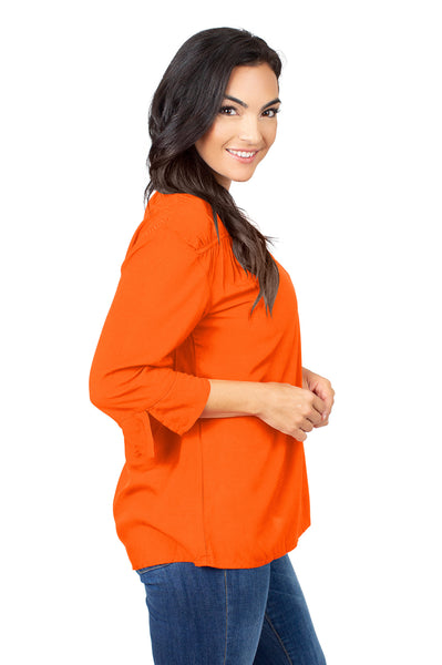 Clemson Tigers Orange Flutter Sleeve Top