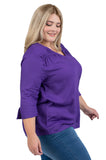 Plus Size East Carolina Pirates Flutter Sleeve Top