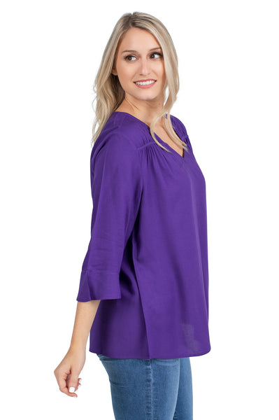 LSU Tigers Purple Flutter Sleeve Top