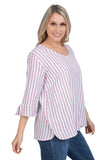 Oklahoma Sooners Striped Blouse