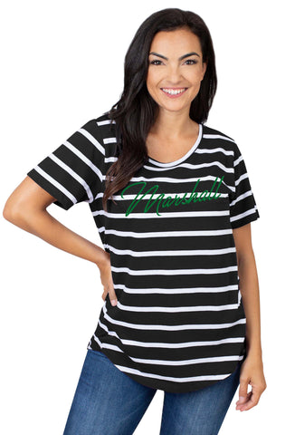 Marshall Thundering Herd Striped Sweet Tee