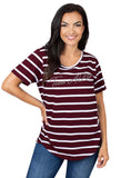 Texas A&M Striped Sweet Tee