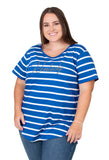 Plus Size Kentucky Wildcats Striped Sweet Tee