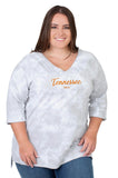 Plus Size Tennessee Vols Tie Dye Top