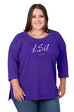 Plus Size LSU Tigers Favorite Waffle Top