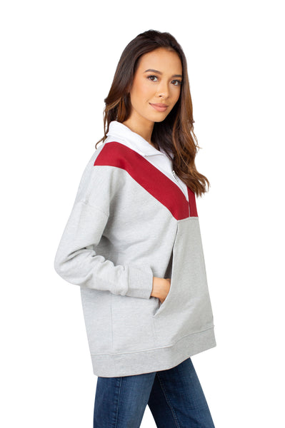 Oklahoma Sooners Colorblock Quarter Zip