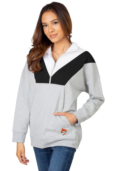 Oklahoma State Colorblock Quarter Zip