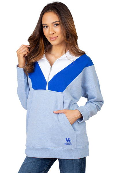 Kentucky Wildcats Colorblock Quarter Zip
