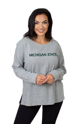 Michigan State Ribbed Pullover