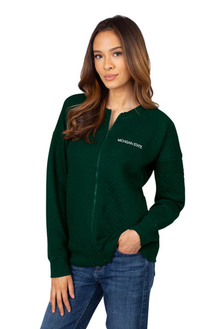Michigan State Quilted Fleece Jacket