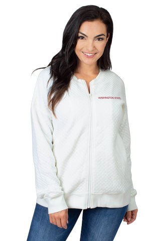 Washington State Quilted Fleece Jacket