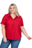 Plus Size Alabama Crimson Tide Dolman Sleeve Top