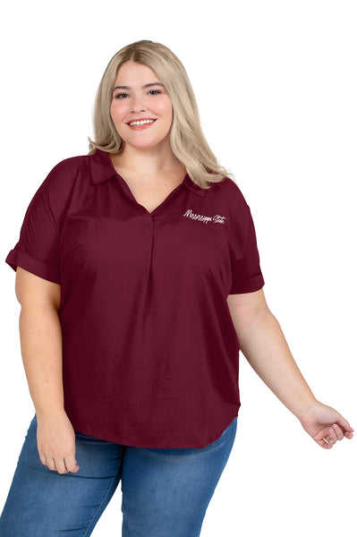 Plus Size Mississippi State Dolman Sleeve Top