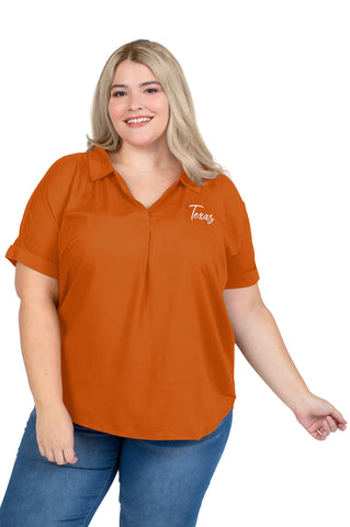 Plus Size Texas Longhorns Dolman Sleeve Top