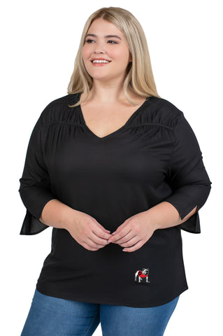 Plus Size University of Georgia Blouse