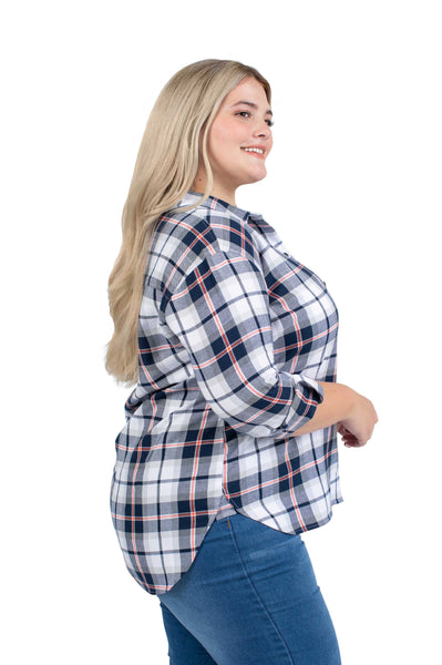Plus Size Auburn Tigers Perfect Plaid Shirt