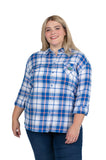 Plus Size Florida Gators Perfect Plaid Shirt