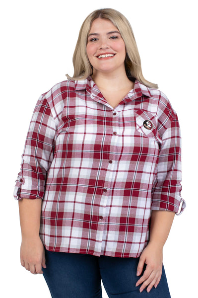 Plus Size Florida State Perfect Plaid Shirt