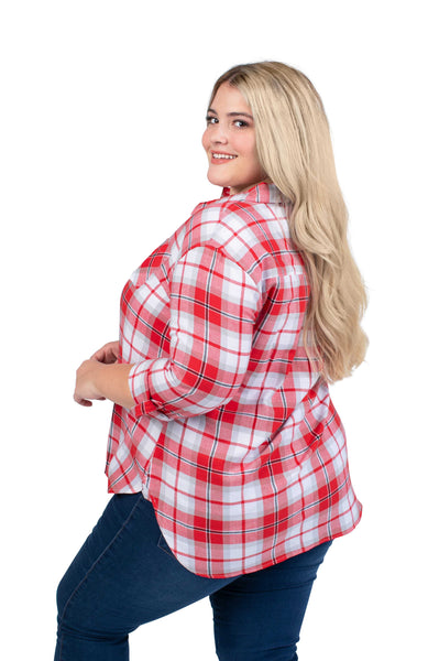 Plus Size Nebraska Huskers Perfect Plaid Shirt