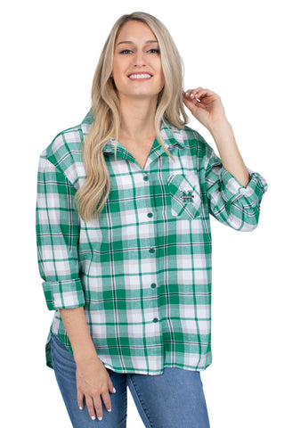 Marshall University Perfect Plaid Shirt