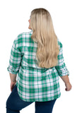 Plus Size Marshall University Perfect Plaid Shirt