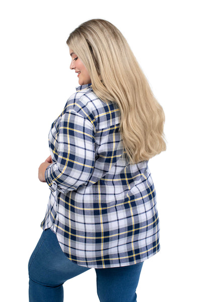 Plus Size WVU Perfect Plaid Shirt