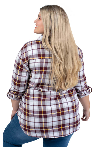 Plus Size Minnesota Gophers Perfect Plaid Shirt
