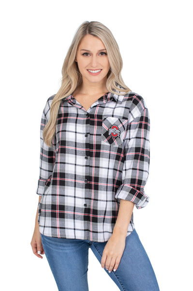 Ohio State Buckeyes Black Perfect Plaid Shirt