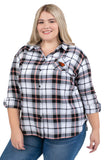 Plus Size Oregon State Perfect Plaid Shirt