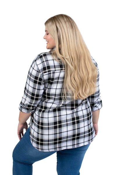 Plus Size Purdue Perfect Plaid Shirt