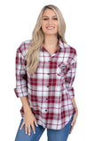 South Carolina Women's Plaid Shirt
