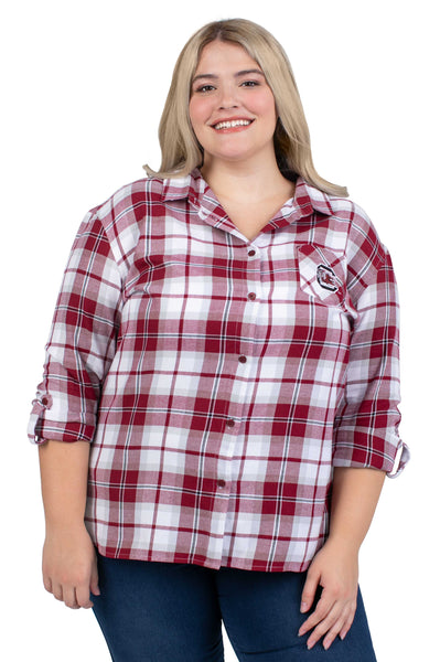 Plus Size South Carolina Perfect Plaid Shirt